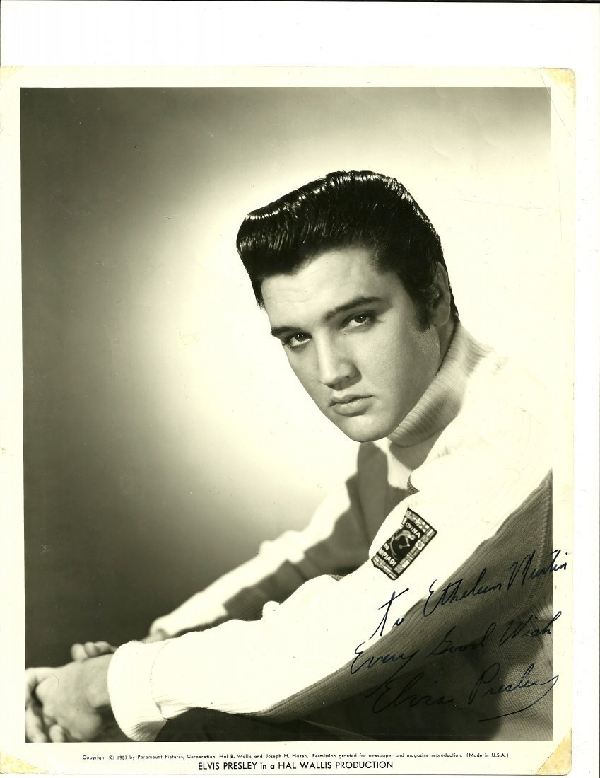Elvis Presley Poster, Signed
