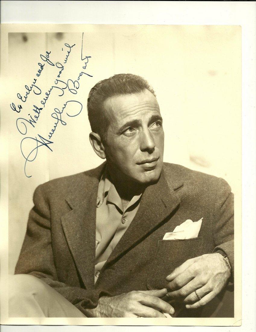 Humphrey Bogart Poster, Signed