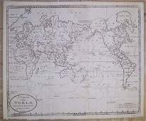 Carey A Chart of the World 1811