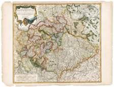 Robert de Vaugondy Cercle de Haute Saxe Germany 1756