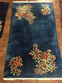Antique Chinese Art Deco Handwoven Rug Size 3 x 5