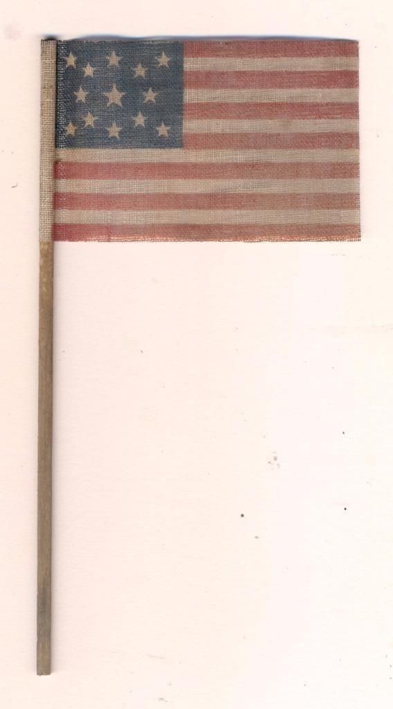 Vintage 13 Star Centennial American Parade Flag, 1876