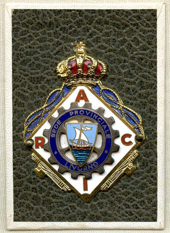 Rare Fascist Italy Royal Badge on Original Card, 1930's