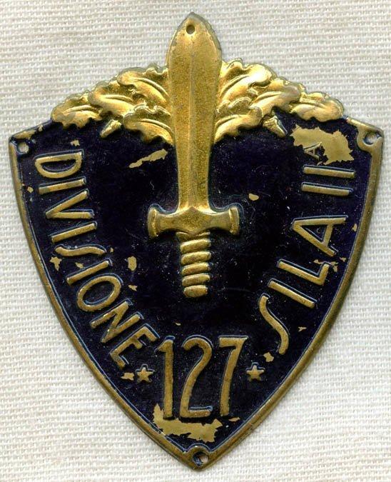 Rare Italian Army Sila II Sleeve Shield, 1935