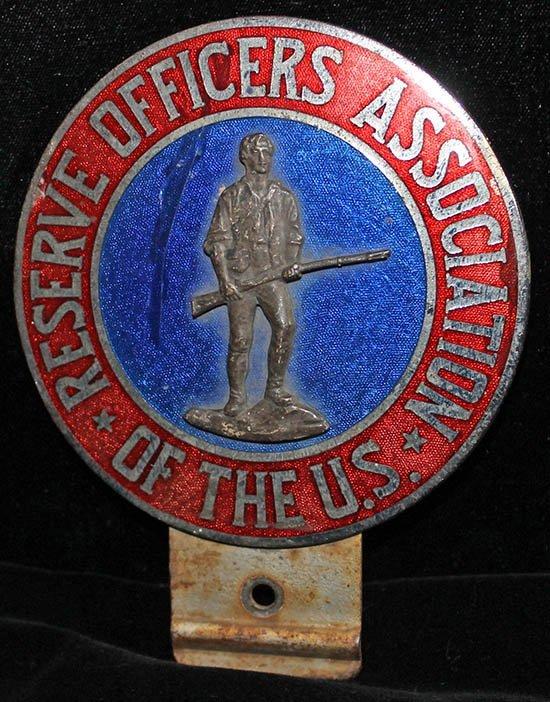 Reserve Officers Association Automobile Badge, 1920's