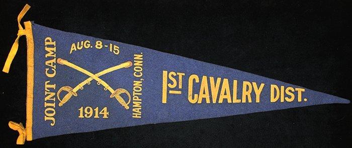 1st Cavalry District Joint Camp Souvenir Pennant, 1914