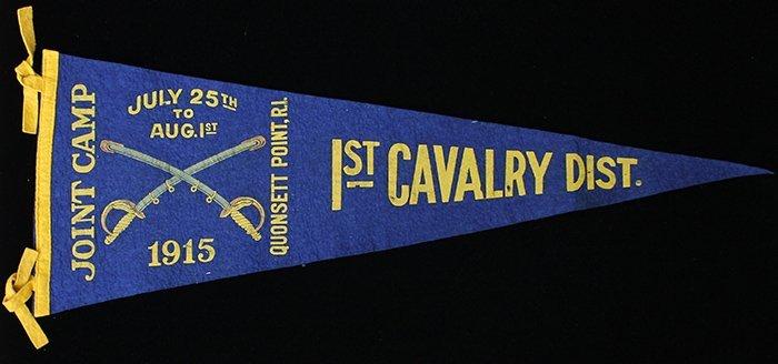 1st Cavalry District Joint Camp Souvenir Pennant, 1915