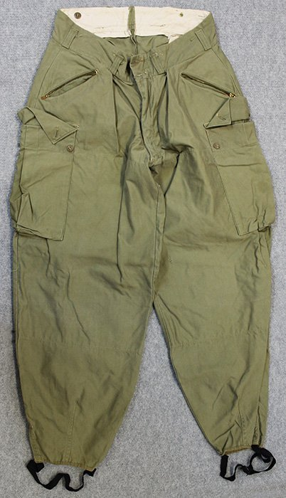 Rare WWII Mountain Troop Trousers with Stirrups Intact