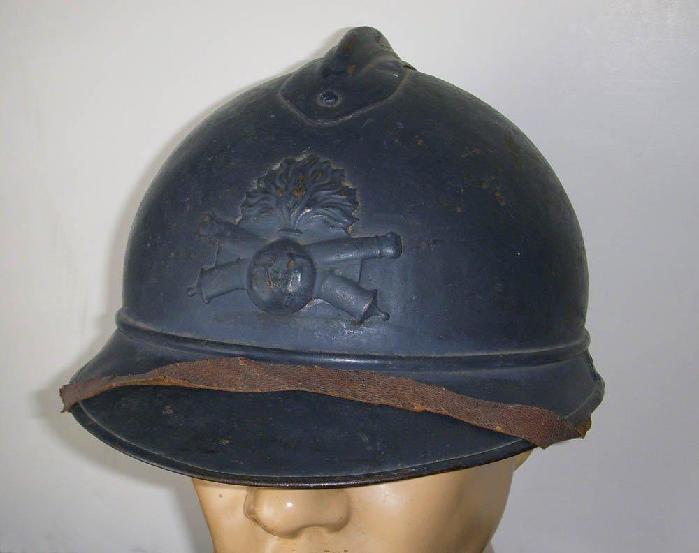 WWI French Army Artillery Adrian Helmet