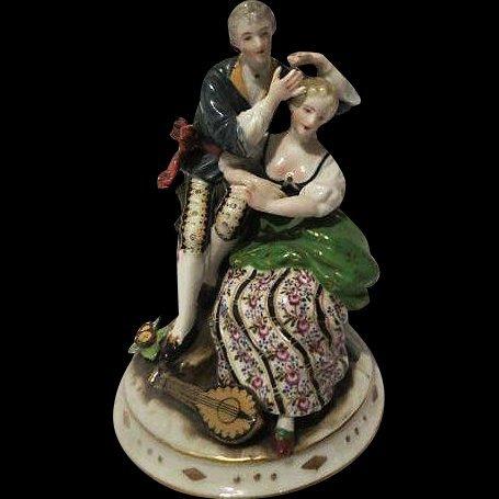 Vintage Porcelain Hand Painted Figurine