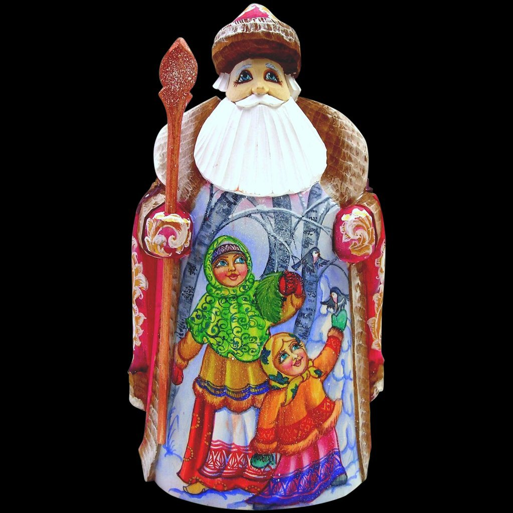 Hand Carved Large Russian Santa