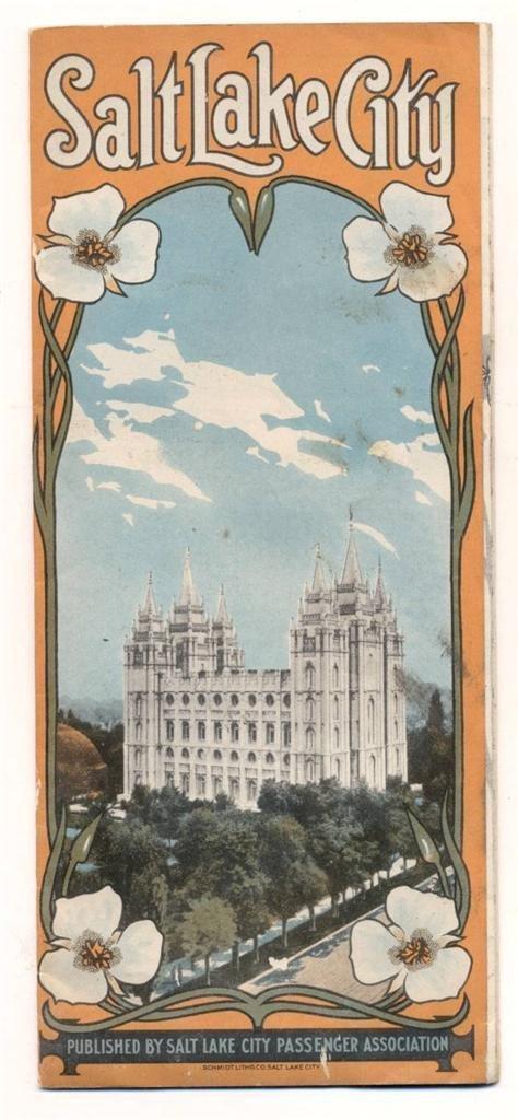 Vintage Travel Brochure - Salt Lake City, 1920
