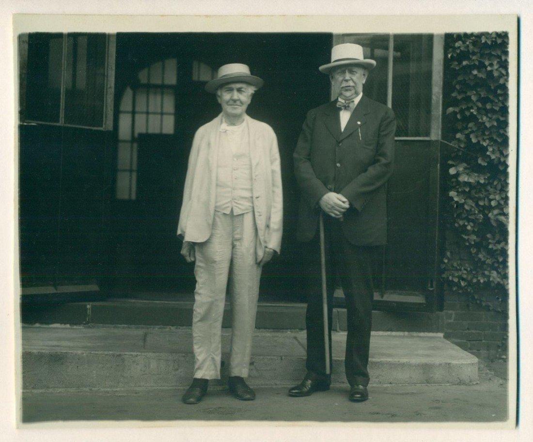 Vintage Photo of Thomas Edison & Friend, 1920
