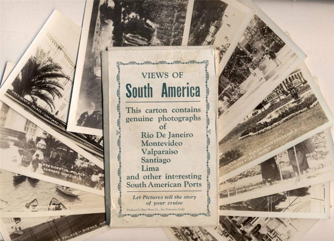 Lot of 12 Photos, Views of South America, 1915