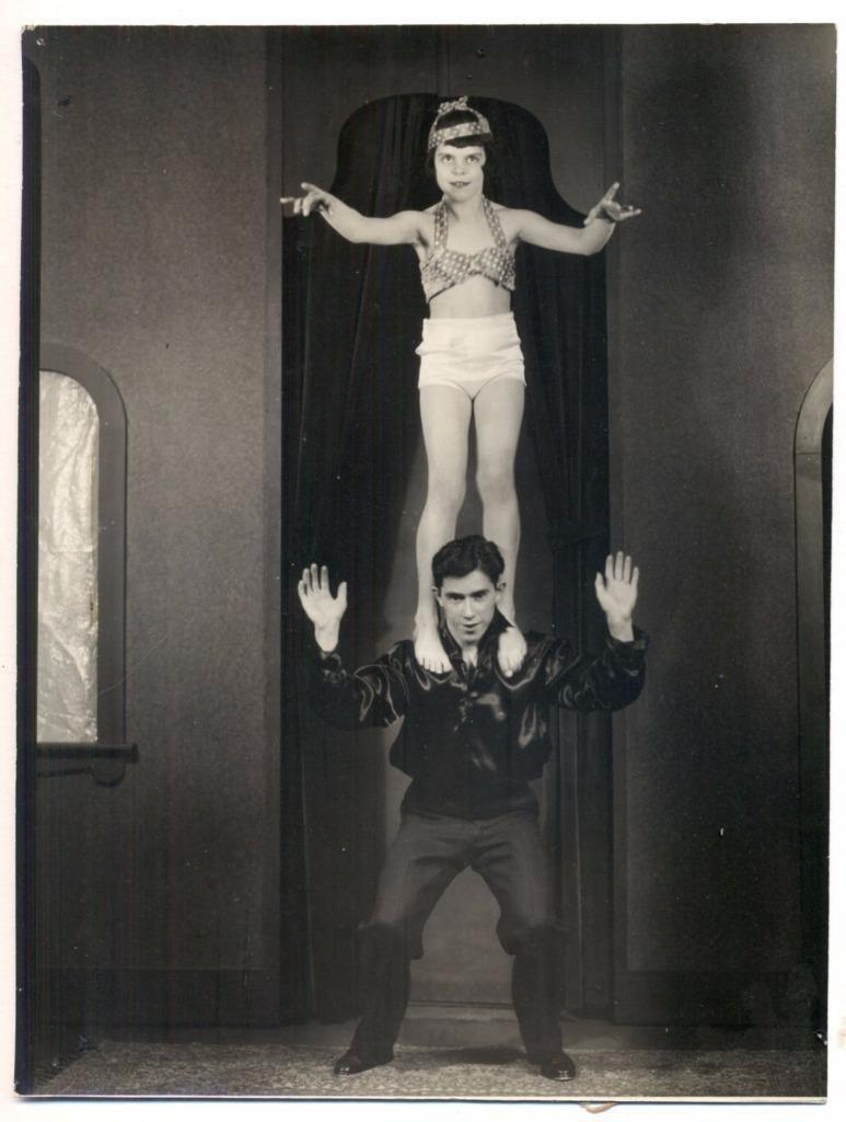 Acrobat Girl and Man Photo, 1930