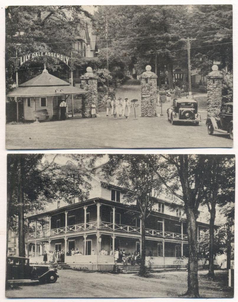 Two Occult Spiritualism Souvenir Postcards, 1939
