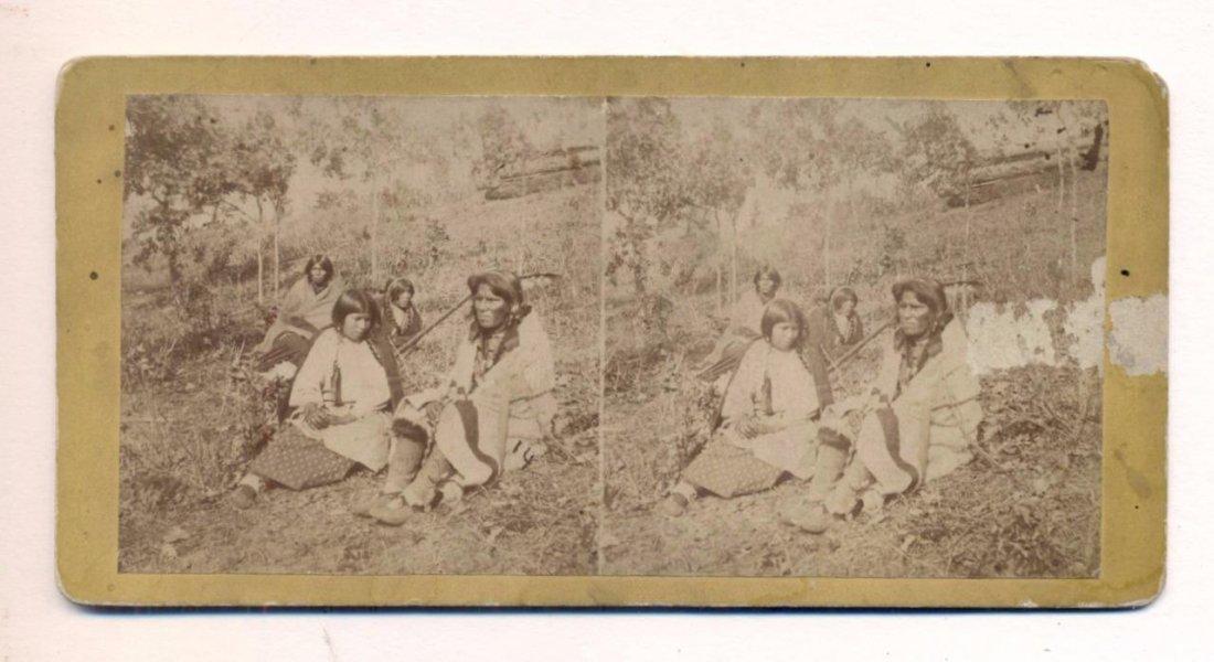 Stereoview of Chippewa Wedding, 1880