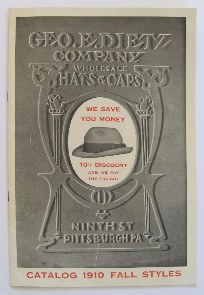 Graphic Vintage Hats & Caps Catalog, 1910