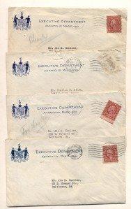 Five Political Signatures of Albert C. Ritchie, 1927