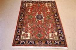 Antique Animal Subjects Persian Bijar Rug, 3.5x5