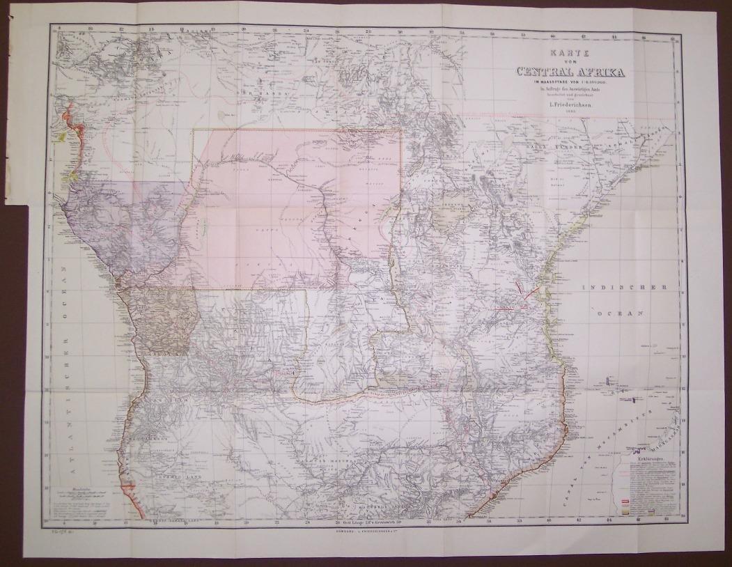 Karte Von Central Afrika 1886