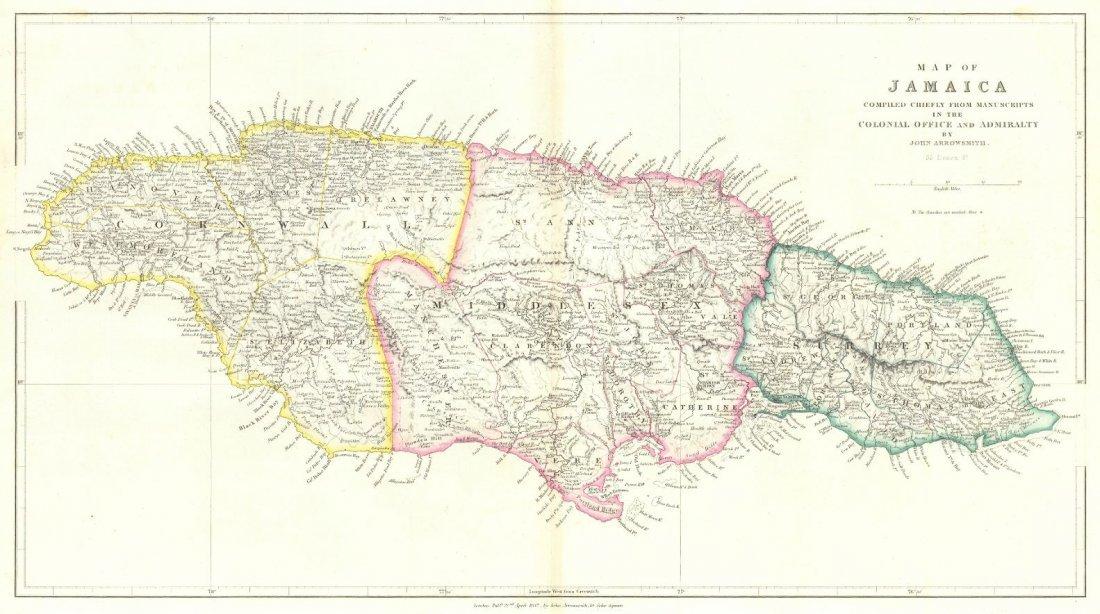 Map of Jamaica 1842