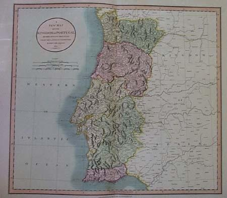 John Cary: New Map of the Kingdom of Portugal 1801