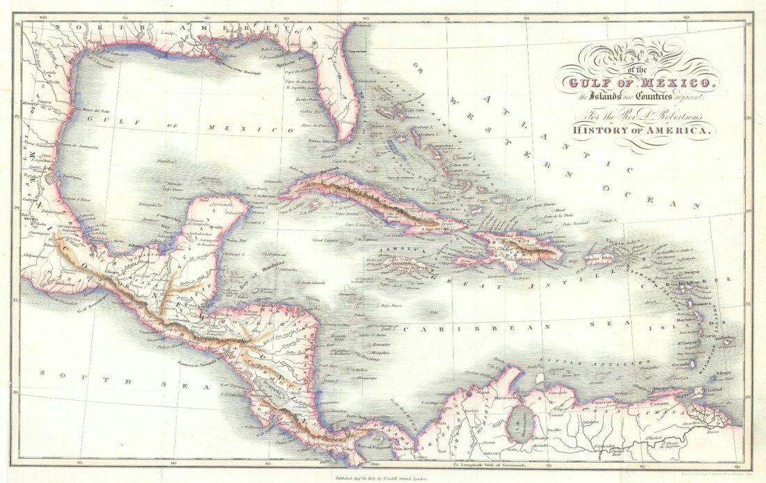 Map of the Gulf of Mexico 1821