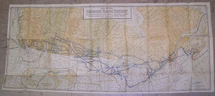 Map of the Canadian Pacific Railway 1916