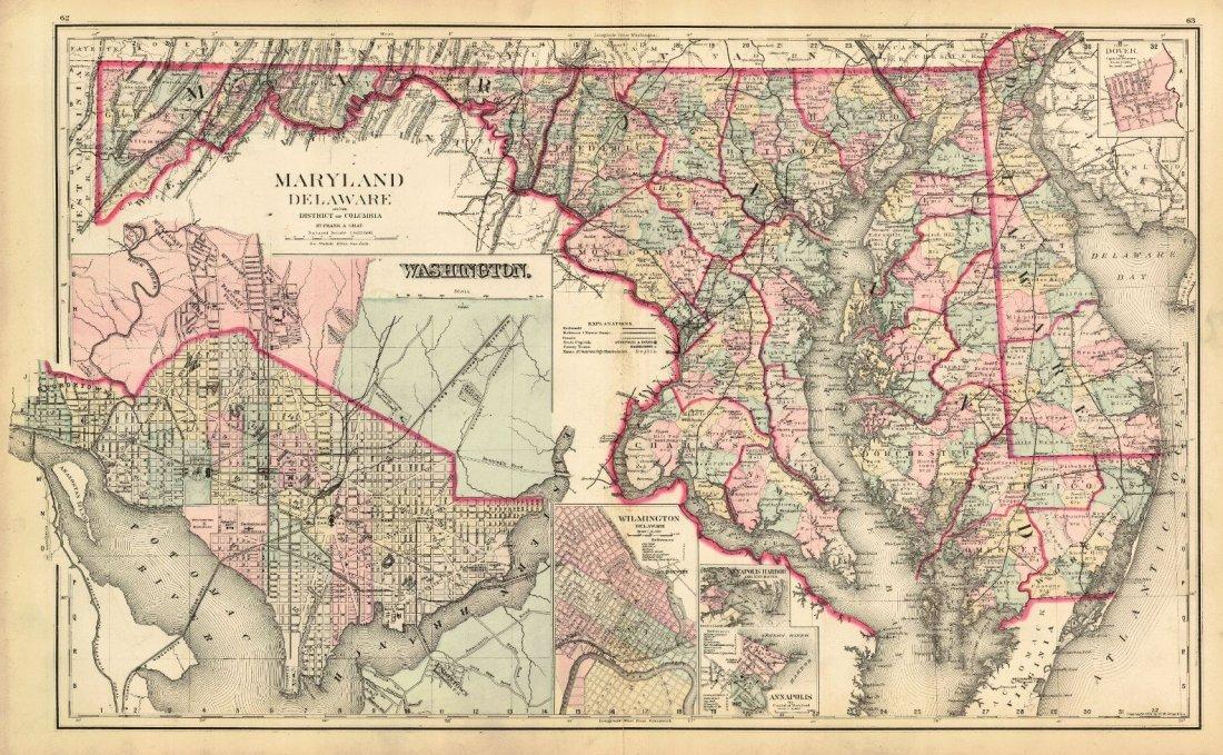 Gray's New Map of Baltimore 1886