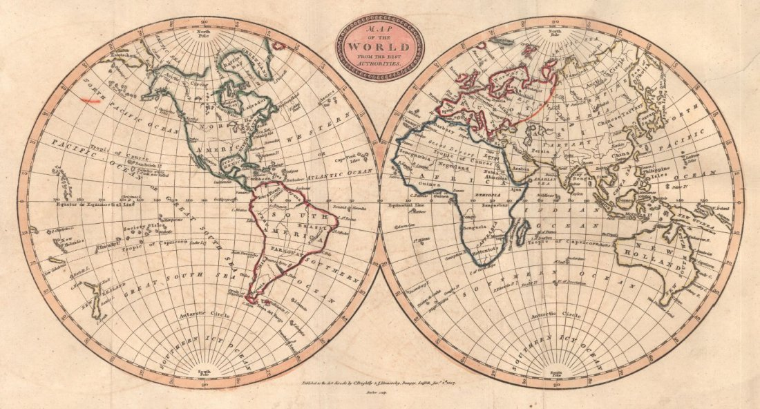 Map of the World from the Best Authorities 1807