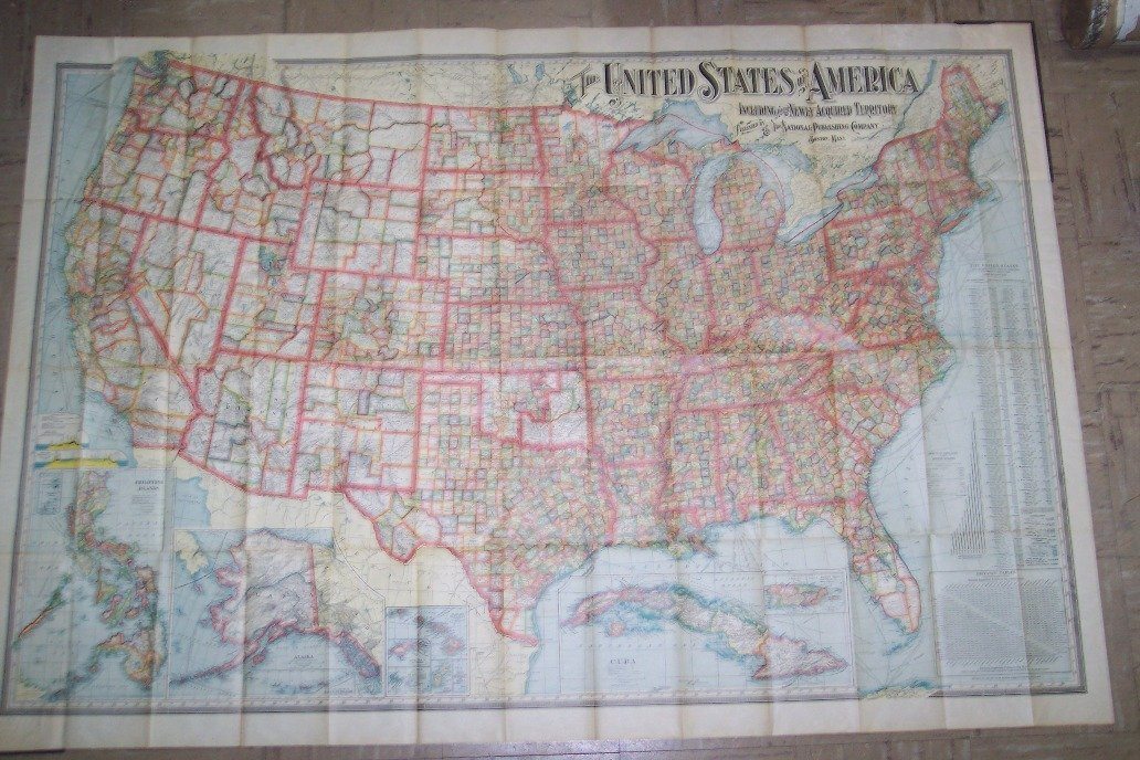 The United States with Newly Acquired Territory 1902