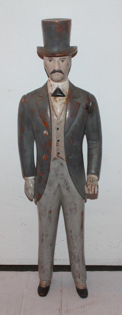 Early 20th C Folk Art J.W. Walker Figure