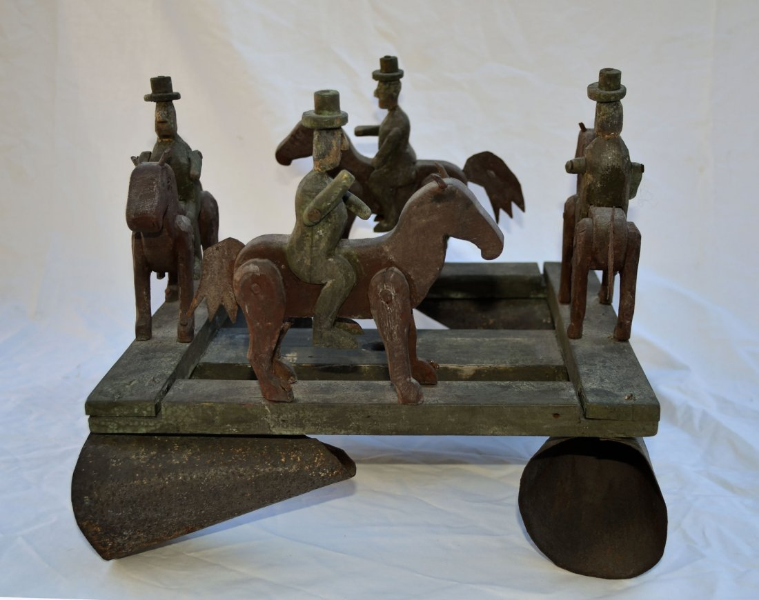 Horse and Rider Whirligig