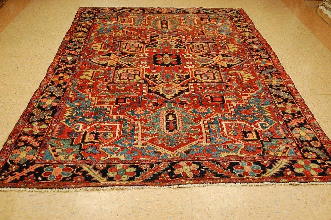 Antique Persian Heriz Karaje Serapi Rug 7x10