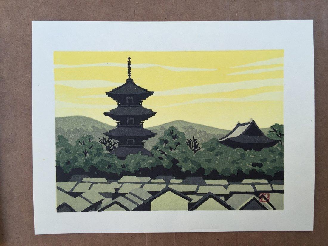 Ido Masao: Pagoda in Sunset, 1980