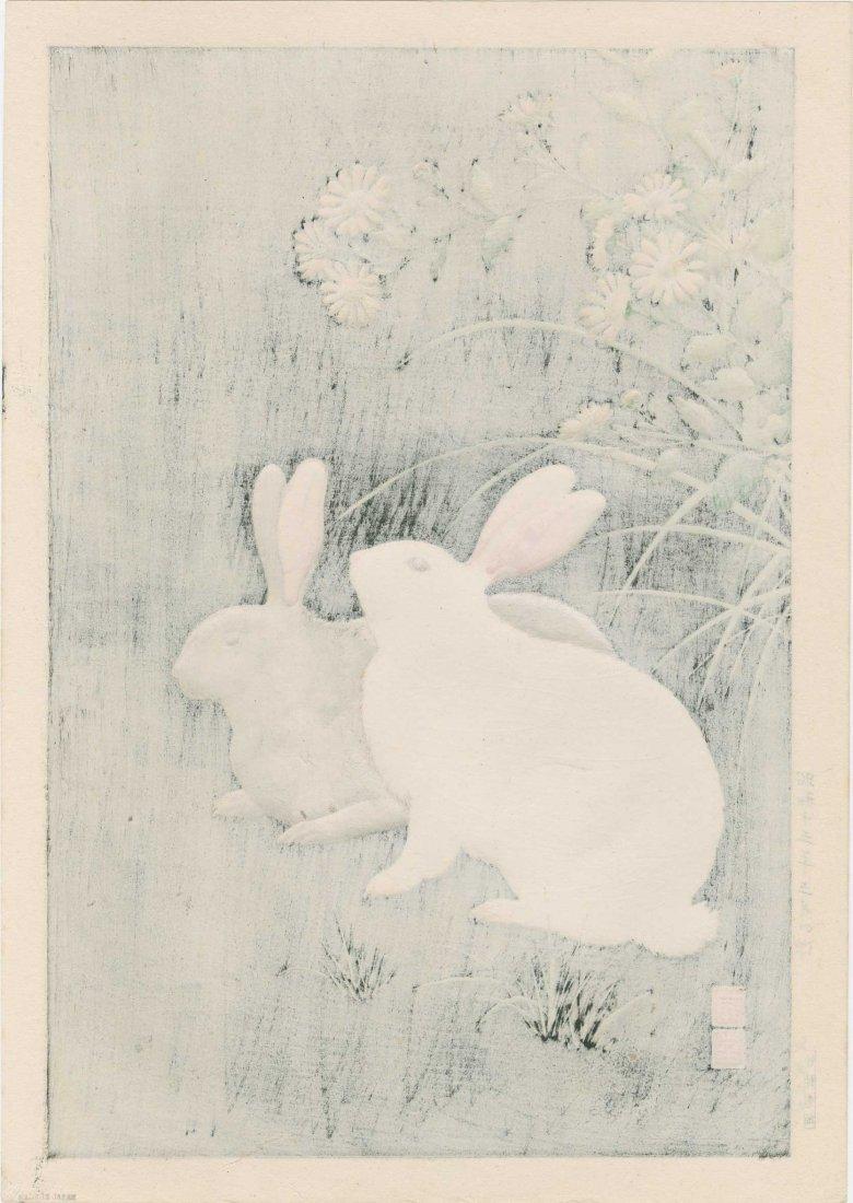 Hodo Nishimura: Two Rabbits at Night, 1938 - 2