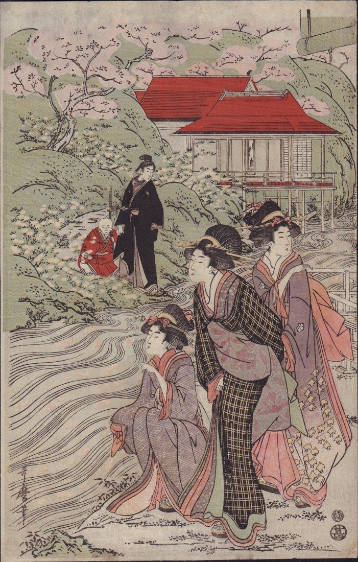 Kitigawa Utamaro: Beauties by Cherry Blossoms, 1800