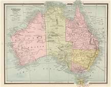 Map of Australia, Cram's Unrivaled Atlas of the World