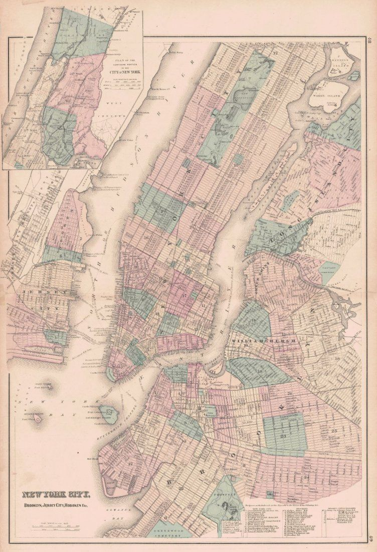 Gray & Son's Map of New York City 1876