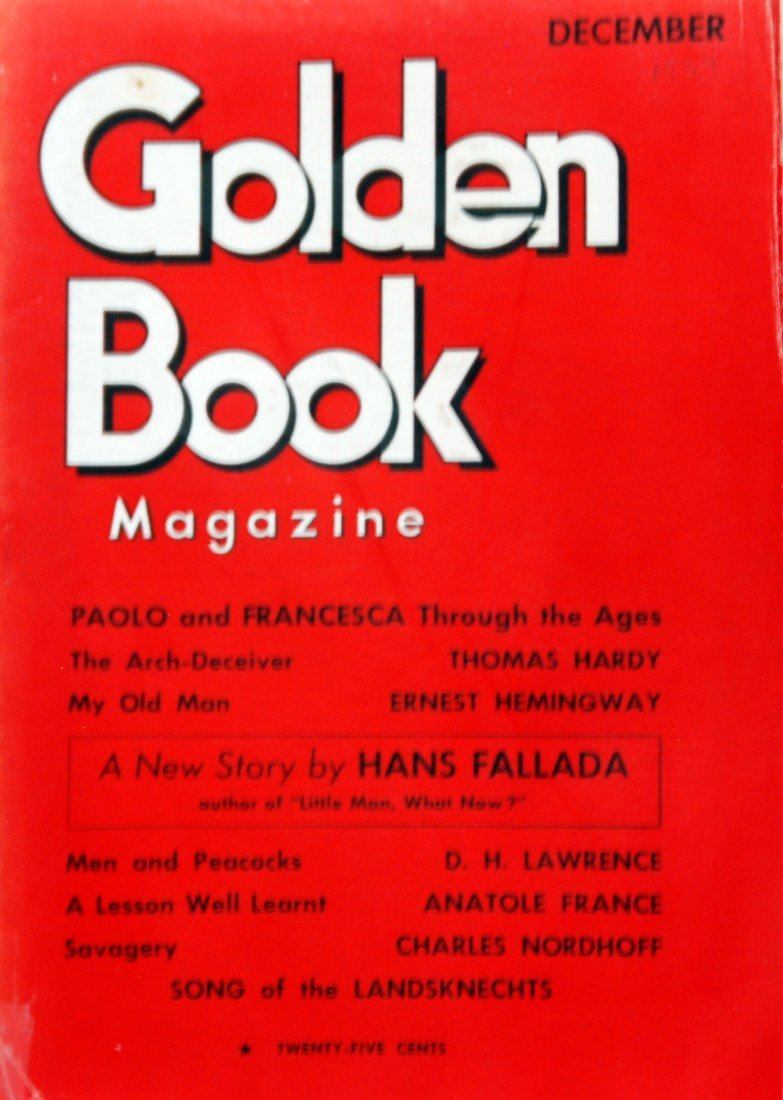 Golden Book Magazine, Dec 1934