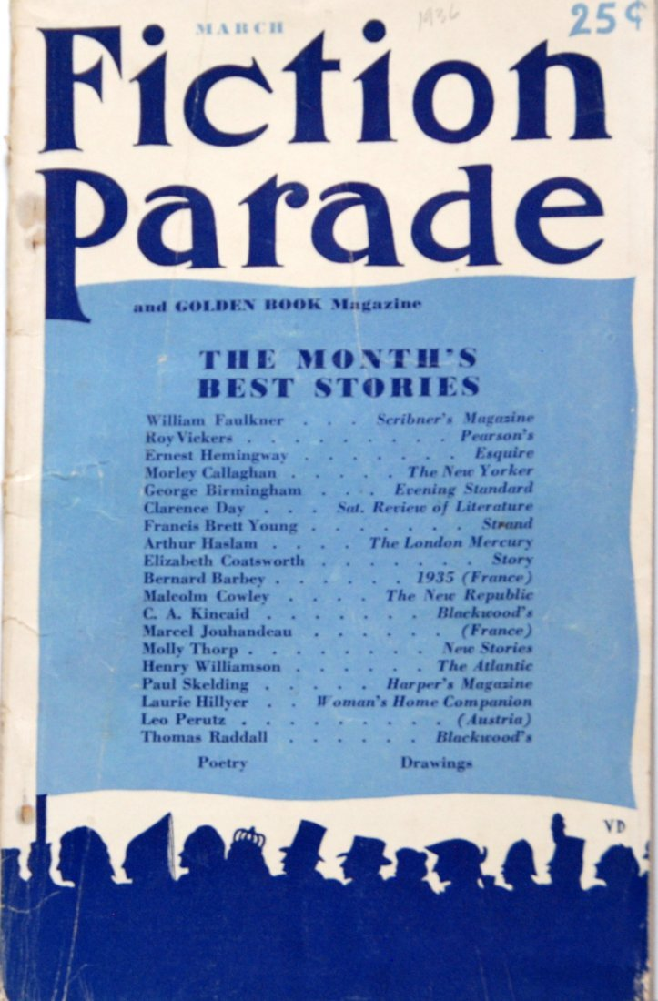 Fiction Parade Magazine, March 1936