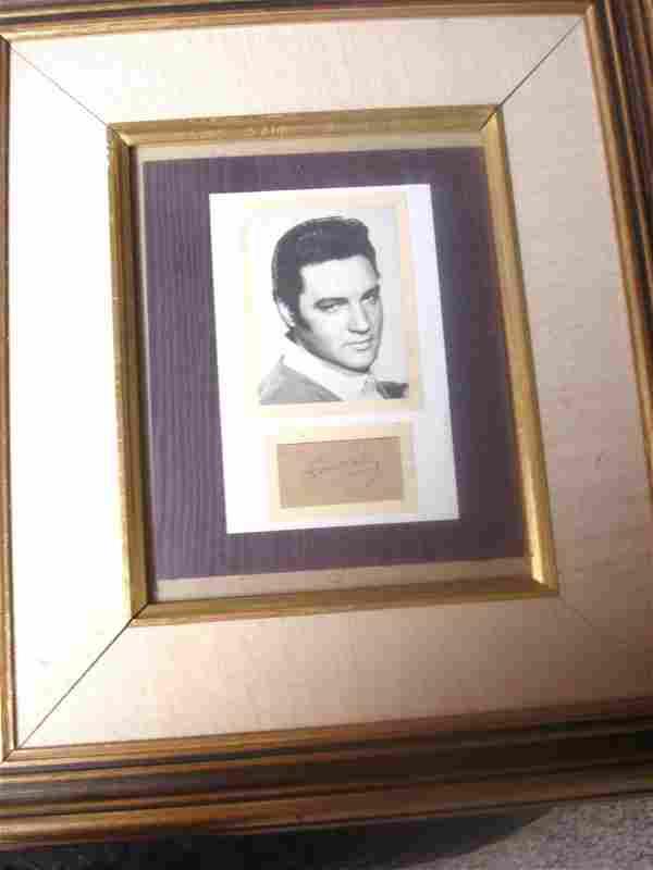 Elvis Presley Autograph and Photograph