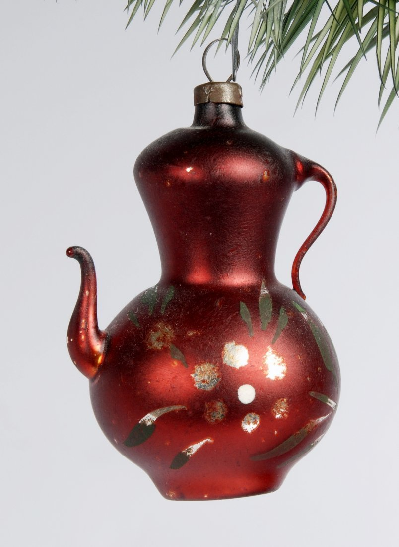 Tea Pot Christmas Ornament, c 1940