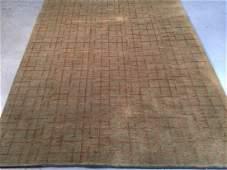 Tibetan Style Hand Knotted Wool & Silk Rug 6x8