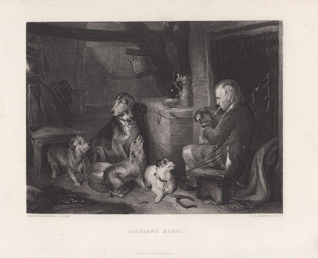 Edwin Landseer: Highland Music, 1875