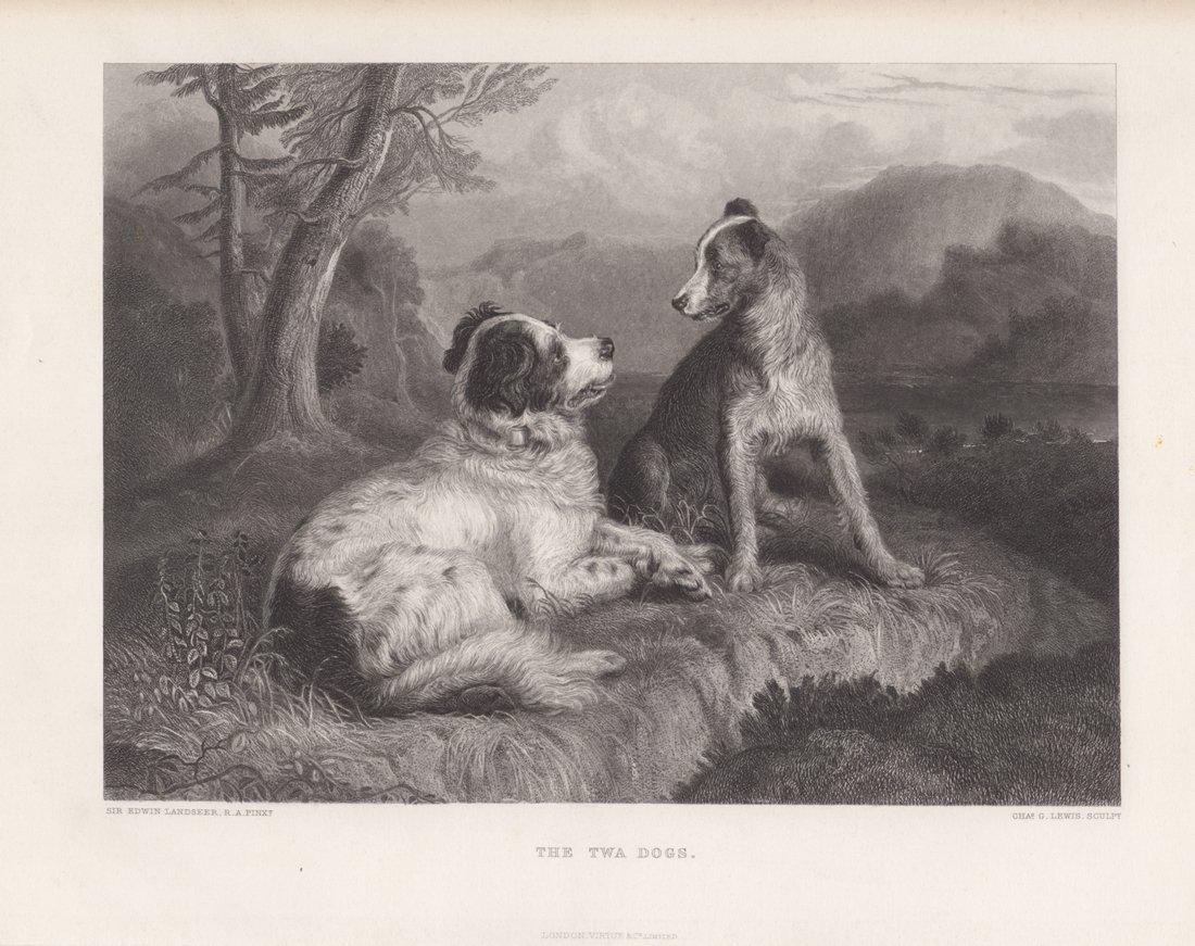 Edwin Landseer: The Twa Dogs, 1875