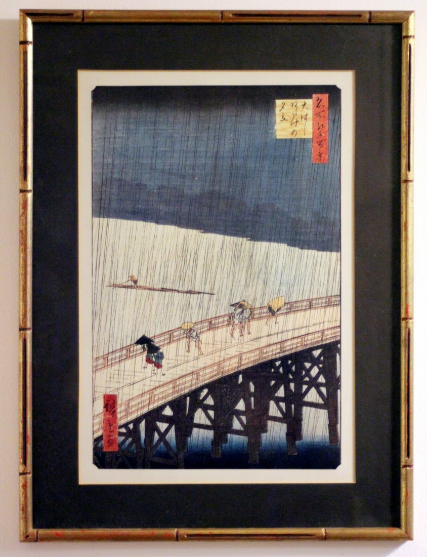 Utagawa Hiroshige: Sudden Shower over Shin-Ohashi, 1857