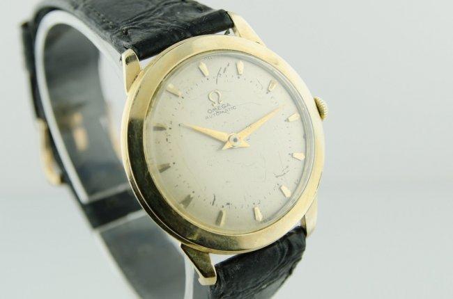 Omega 14K Gold Bumper Automatic Watch - 2