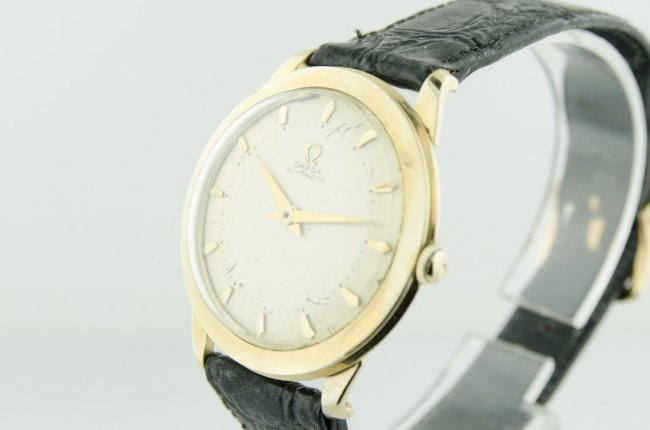 Omega 14K Gold Bumper Automatic Watch - 3